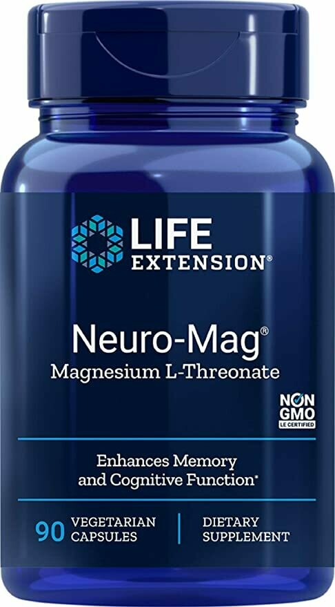 Neuro-Mag Magnesium L-Threonate 90cap Life Extension