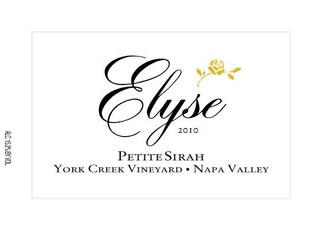 Elyse, Petite Sirah York Creek Vineyard Napa Valley