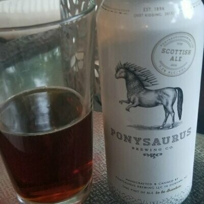 Ponysaurus Scottish Ale 4 x16oz