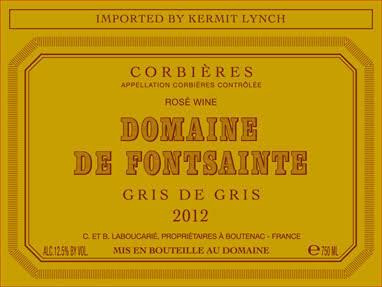"""Domaine de Fontsainte Corbières """"Gris de Gris"""" Rosé 2019"""