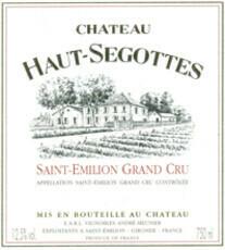 Château Haut-Ségottes Saint Émilion Grand Cru 2015