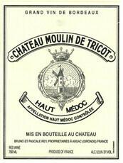 Château Moulin de Tricot Haut Médoc 2016