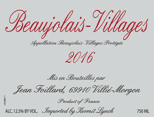 Jean Foillard Beaujolais-Villages 2018