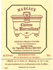 Chateau les Barraillots Margaux 2016