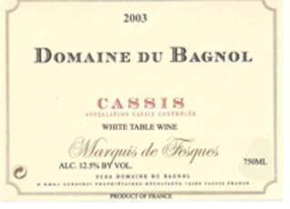 Domaine du Bagnol Cassis Blanc 2019
