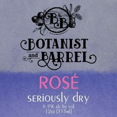 Botanist and Barrel Seriously Dry Cider