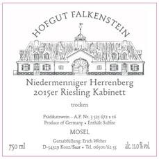 Hofgut Falkenstein Herrenberg Riesling Kabinett Trocken 2018