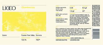 LIOCO Chardonnay Estero 2016