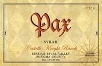 Pax Syrah Castello-Knight Ranch, Russian River Valley 2015