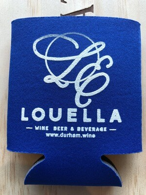 LouElla Logo Blue Koozie