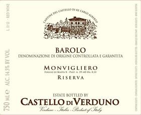 Verduno Barolo Riserva Monvigliero 2012