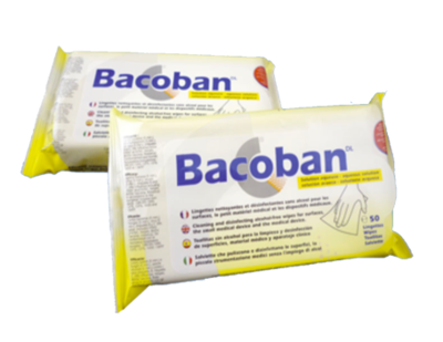 Bacoban Wipes (25 sheets - Case of 50)