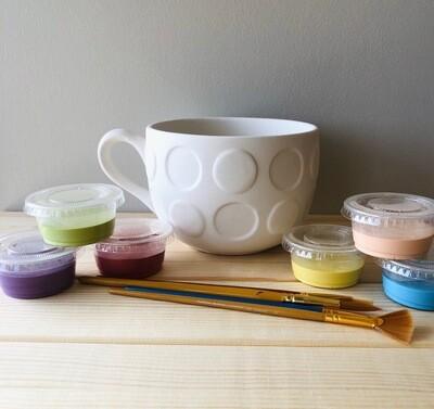 Take Home Jumbo Dot Latte Mug with Glazes - Pick up at Pet Depot
