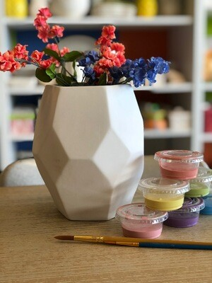 Take Home Faceted Vase with Glazes - Pick up at Pet Depot