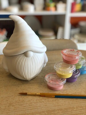 Take Home Gnome Cookie Jar with Glazes - Pick up at Pet Depot