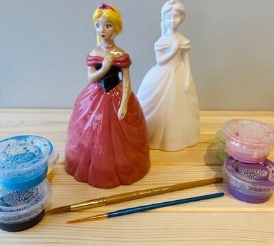 Take Home Princess Bank with Glazes - Pick up at Pet Depot