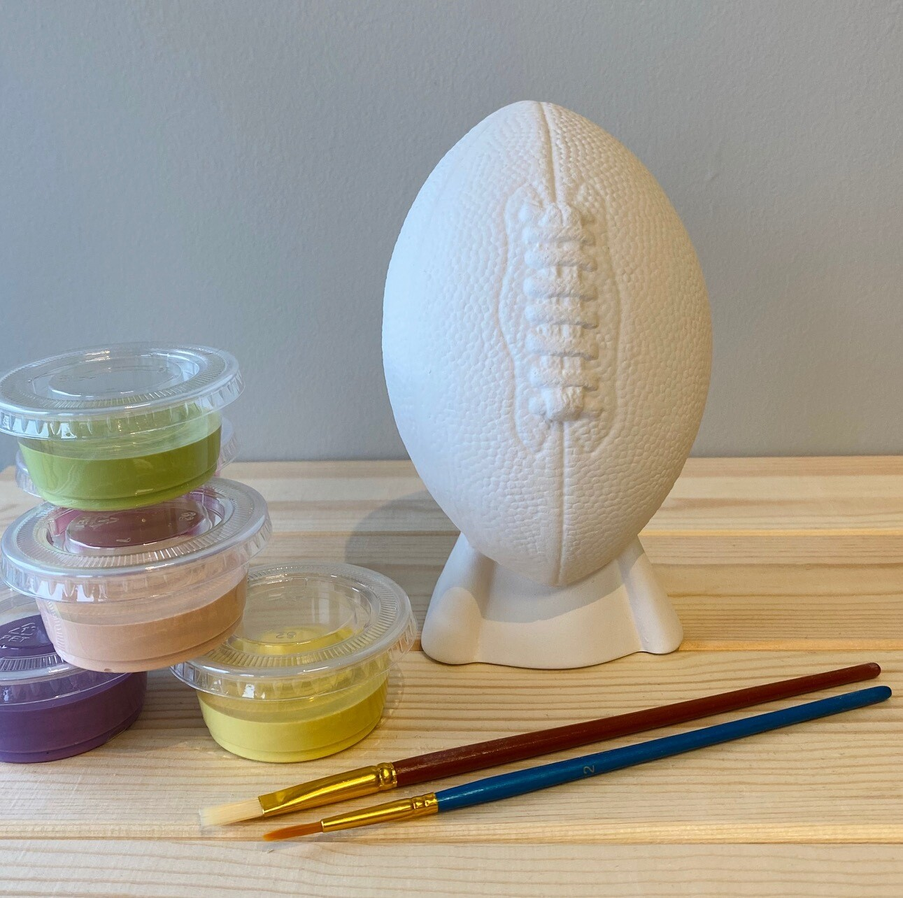 Take Home Football Bank with Glazes - Pick up at Pet Depot