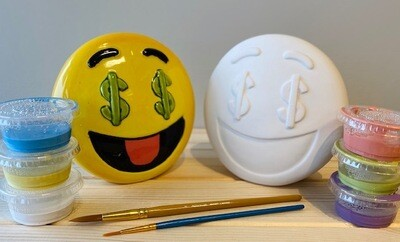 Take Home Emoji Bank with Glazes - Pick up at Pet Depot