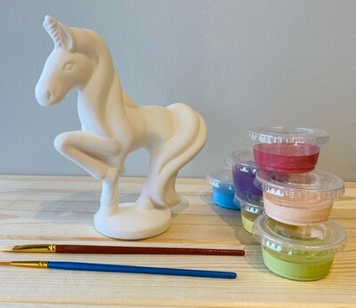 Take Home Standing Unicorn with Glazes - Pick up at Pet Depot