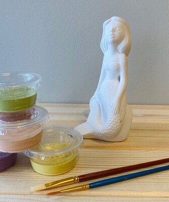 Take Home Standing Mermaid with Glazes - Pick up at Pet Depot