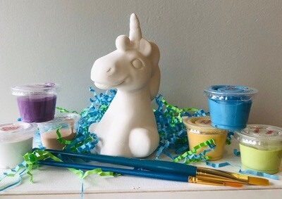 Take Home Unicorn Party Animal with glazes - Pick up at Pet Depot