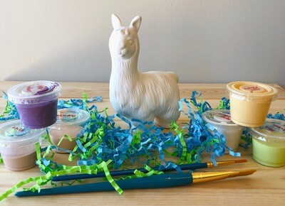 Take Home Llama Party Animal with glazes  - Pick up at Pet Depot