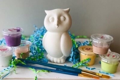 Take Home Owl Party Animal with glazes - Pick up at Pet Depot