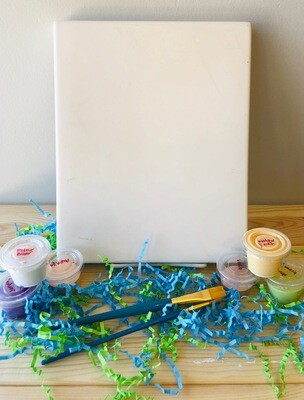 Take Home Clay Canvas with glazes  - Pick up at Pet Depot
