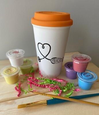 Take Home Coloring Book 16 oz Nurse Stethoscope Travel Mug with Glazes - Pick up at Pet Depot