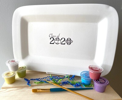Take Home Coloring Book Class of 2020 Rectangle Rimmed TP Platter with Glazes - Pick up at Pet Depot