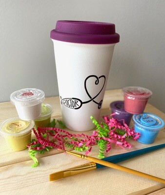 Take Home Coloring Book 16 oz Doctor Stethoscope Travel Mug with Glazes - Pick up at Pet Depot