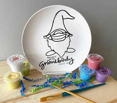 Take Home Coloring Book Hanging with Gnomebody Plate with Glazes - Pick up at Pet Depot