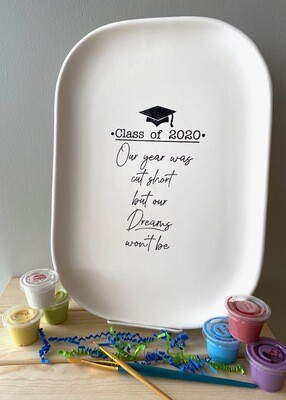 Take Home Coloring Book Class of 2020 Squircle Platter with Glazes - Pick up at Pet Depot