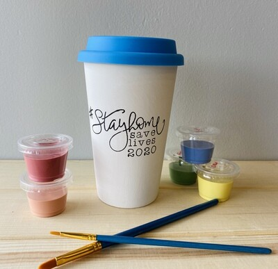 Take Home Coloring Book 16 oz #Stayhome Mug with Glazes - Pick up at Pet Depot