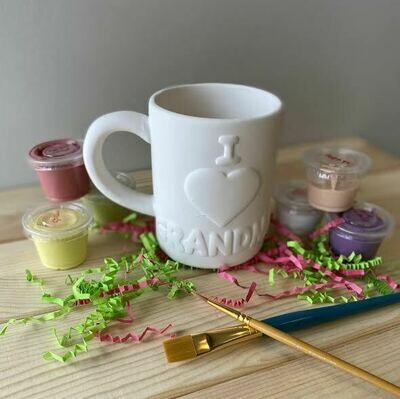Take Home I Love Grandma Mug with glazes - Pick up at Pet Depot