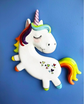 Take Home Unicorn Plaque with glazes  - Pick up at Pet Depot