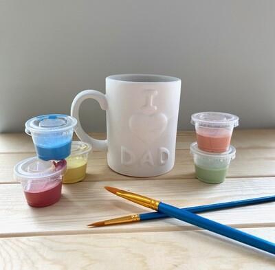 Take Home I Love Dad Mug with glazes - Pick up at Pet Depot