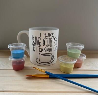 Take Home Coloring Book 12 oz I Like Big Cups Mug with Glazes - Pick up at Pet Depot