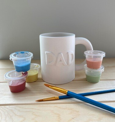 Take Home Dad Mug with glazes - Pick up at Pet Depot