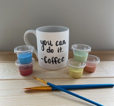 Take Home Coloring Book 12 oz You Can Do It Coffee Mug with Glazes - Pick up at Pet Depot