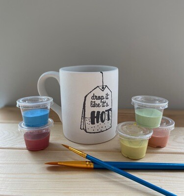 Take Home Coloring Book 12 oz  Drop it Like it's Hot Mug with Glazes - Pick up at Pet Depot