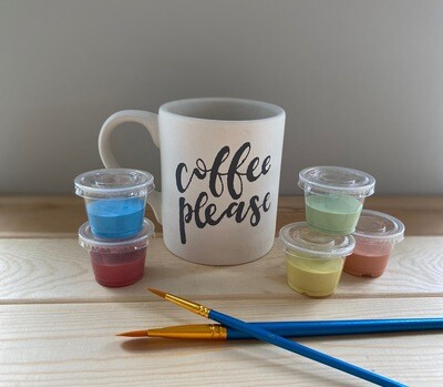 Take Home Coloring Book 12 oz Coffee Please Mug with Glazes - Pick up at Pet Depot