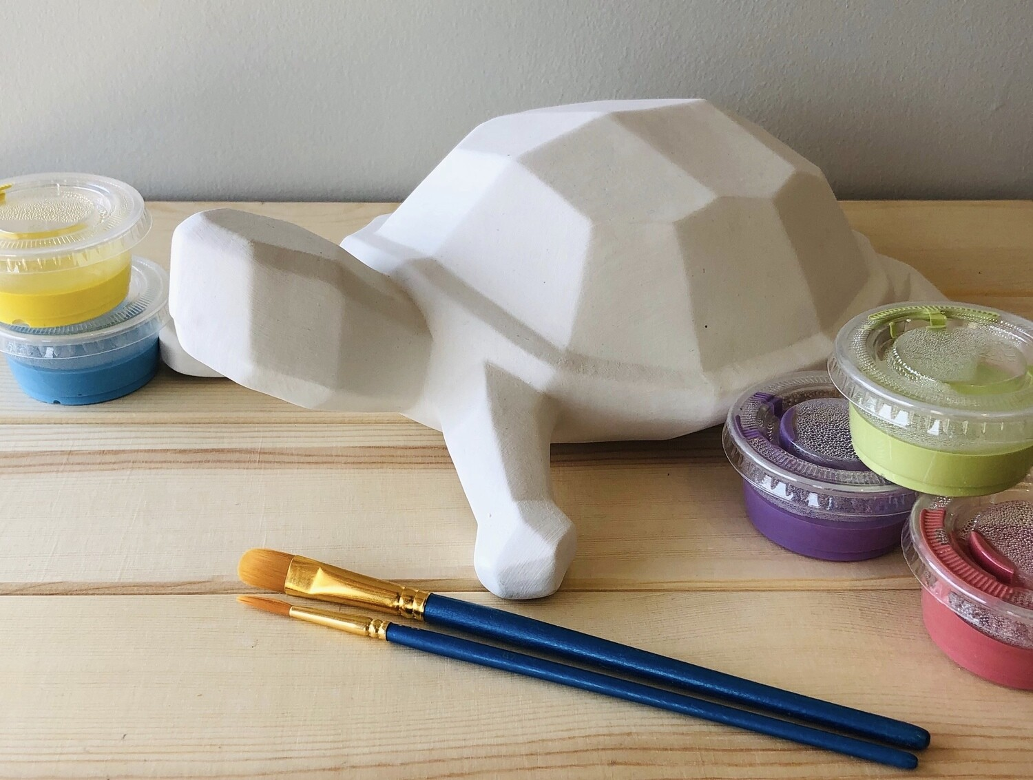 Take Home Faceted Turtle with Glazes - Pick up at Pet Depot