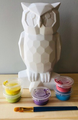 Take Home Faceted Owl with Glazes - Pick up at Pet Depot