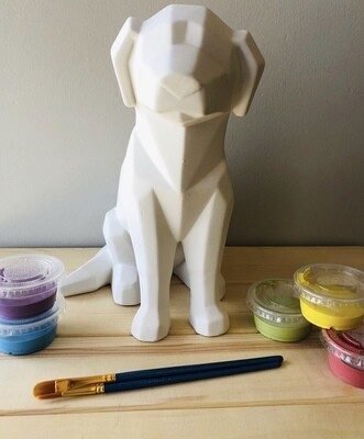 Take Home Faceted Dog with Glazes - Pick up at Pet Depot