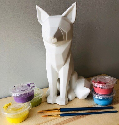 Take Home Faceted Fox with Glazes - Pick up at Pet Depot