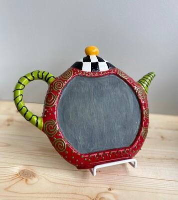 Teapot Chalkboard- Sample Sale