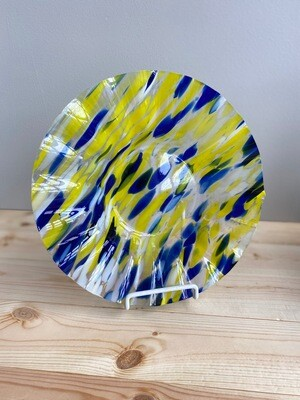 Yellow & Blue Art Glass Bowl  - Sample Sale