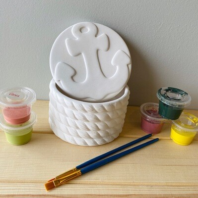 Take Home Ceramic Anchor Box with Glazes - Pick up at Pet Depot