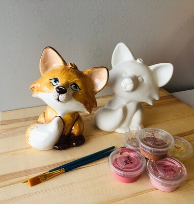 Take Home Fox Bank with Glazes - Pick up at Pet Depot
